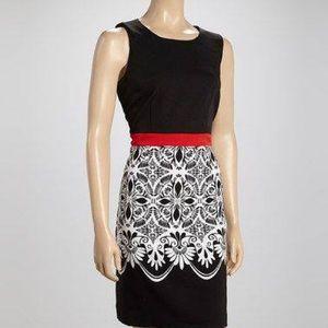 - Voir Voir Black/Fuschia Dress NWT.size 18,